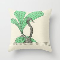 vert pale pc 920 Throw Pillow