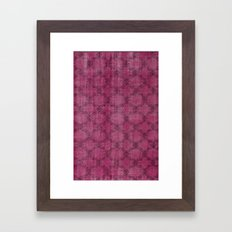 Overdyed Rug 1 Crushed Berry Framed Art Print