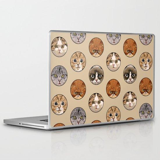 Polka Meaw Laptop & iPad Skin