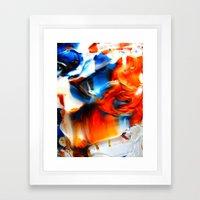 signal cascade Framed Art Print