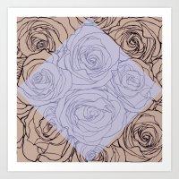 Art Nouveau Rose Art Print
