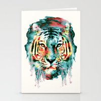 tiger Stationery Cards featuring TIGER by RIZA PEKER