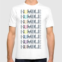 HUMBLE Mens Fitted Tee White SMALL