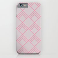 iPhone & iPod Case featuring Diamond Art Deco; - Pink by Michaela Palmer