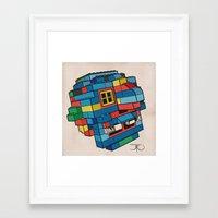 Blue Ghoul Framed Art Print