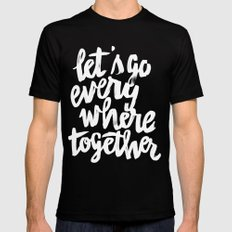 Everywhere Mens Fitted Tee Black SMALL