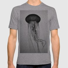 Jellyfish Black and White Mens Fitted Tee Athletic Grey SMALL