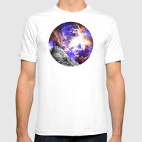 Star Gazing Mens Fitted Tee White SMALL