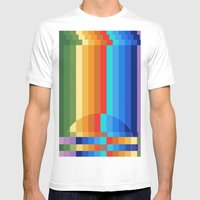 Waterfall Frustration Mens Fitted Tee White SMALL
