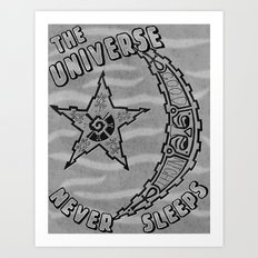 Sleepy Universe Art Print