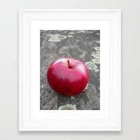 red apple VI Framed Art Print