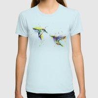 Hummingbird  Womens Fitted Tee Light Blue SMALL