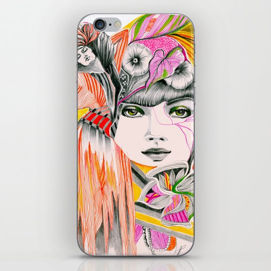 Pink Leaves iPhone & iPod Skin