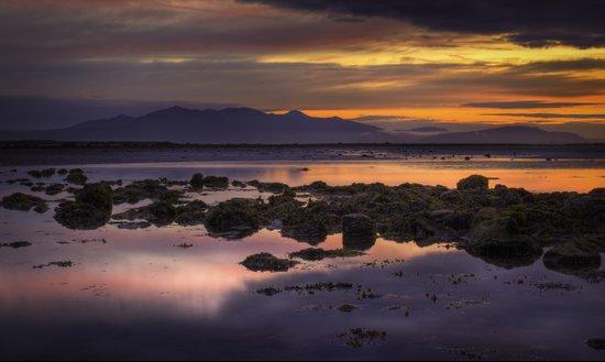 Sunset over Arran Scotland Art Print