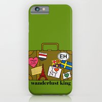 iPhone & iPod Case featuring Wanderlust King by Illustrated by Jenny