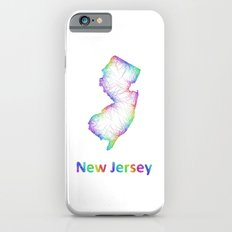 Rainbow New Jersey map iPhone 6s Slim Case