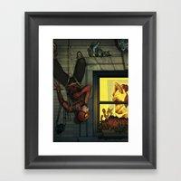 Peepin' Peter Framed Art Print