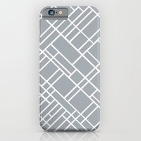 iPhone & iPod Case featuring Map Outline Grey 45  by Project M