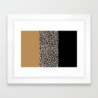 Leopard National Flag XI… Framed Art Print