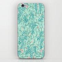 Blue Leaves iPhone & iPod Skin
