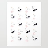Sneakers pattern Art Print