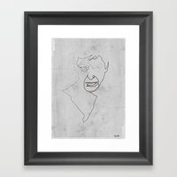 One line Scarface Framed Art Print