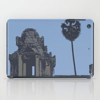 Crypt at Angkor Wat with Palm Tree iPad Case