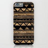 Vintage Gold Tribal Stri… iPhone 6 Slim Case