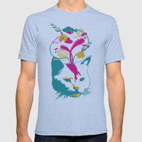 Liquid Thoughts:Cat Mens Fitted Tee Athletic Blue SMALL