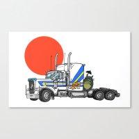 No Trouble In Little Jap… Canvas Print