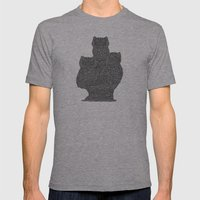 Three Owls Mens Fitted Tee Athletic Grey SMALL