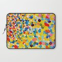 SWEPT AWAY 2 - Vibrant Colorful Rainbow Mango Yellow Waves Mermaid Splash Abstract Acrylic Painting Laptop Sleeve