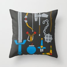 Choose Your Weapon Dark Throw Pillow