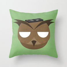Remote Owl Throw Pillow