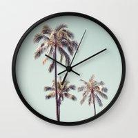 Palm Trees Wall Clock