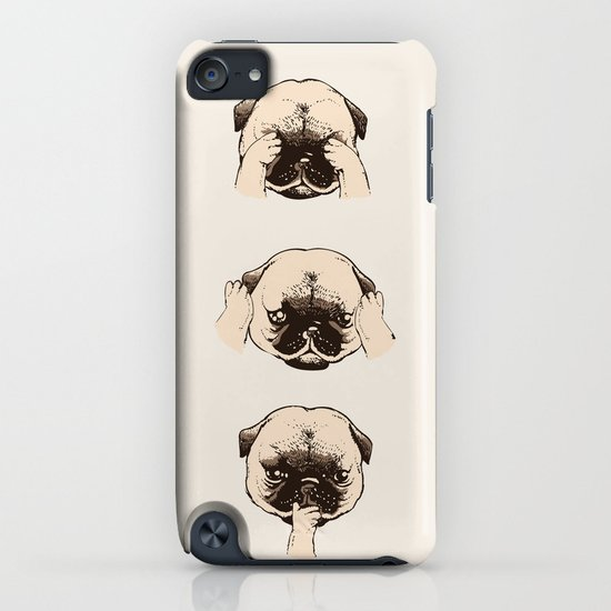 No Evil Pug  iPhone & iPod Case
