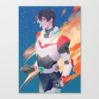 Red Paladin Canvas Print