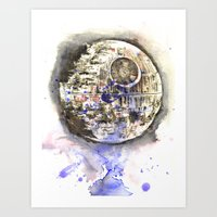 Star Wars Art Painting The Death Star Art Print