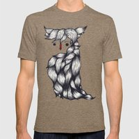 Her Owl Hair Mens Fitted Tee Tri-Coffee SMALL