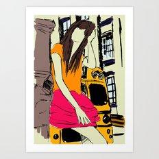 miss the bus Art Print