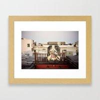 rooftop view::charleston Framed Art Print