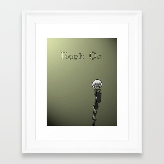 Rock on in Sage Framed Art Print