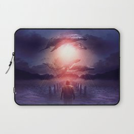 Laptop Sleeve - The Space Between Dreams & Reality - soaring anchor designs