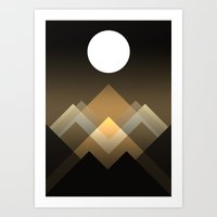Path between hills Art Print