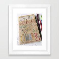 Amateur To Artist Framed Art Print