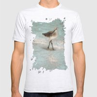 Bird Walking On The Beach Mens Fitted Tee Ash Grey SMALL