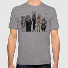 Unusual Suspects Mens Fitted Tee Athletic Grey MEDIUM