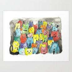 Fancy Kats Art Print
