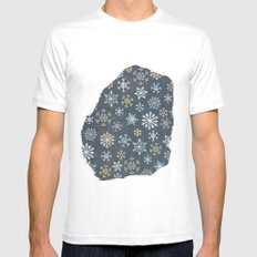 night time snow  Mens Fitted Tee White SMALL