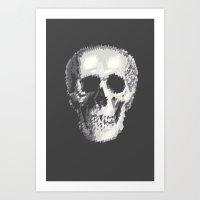 Tri Skull Art Print